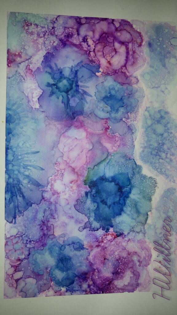 "alcohol ink ""untamed sweetness"" by Holly Willner. Pleas inquire for hi res digital art or originals for sale to fund the Winn family"