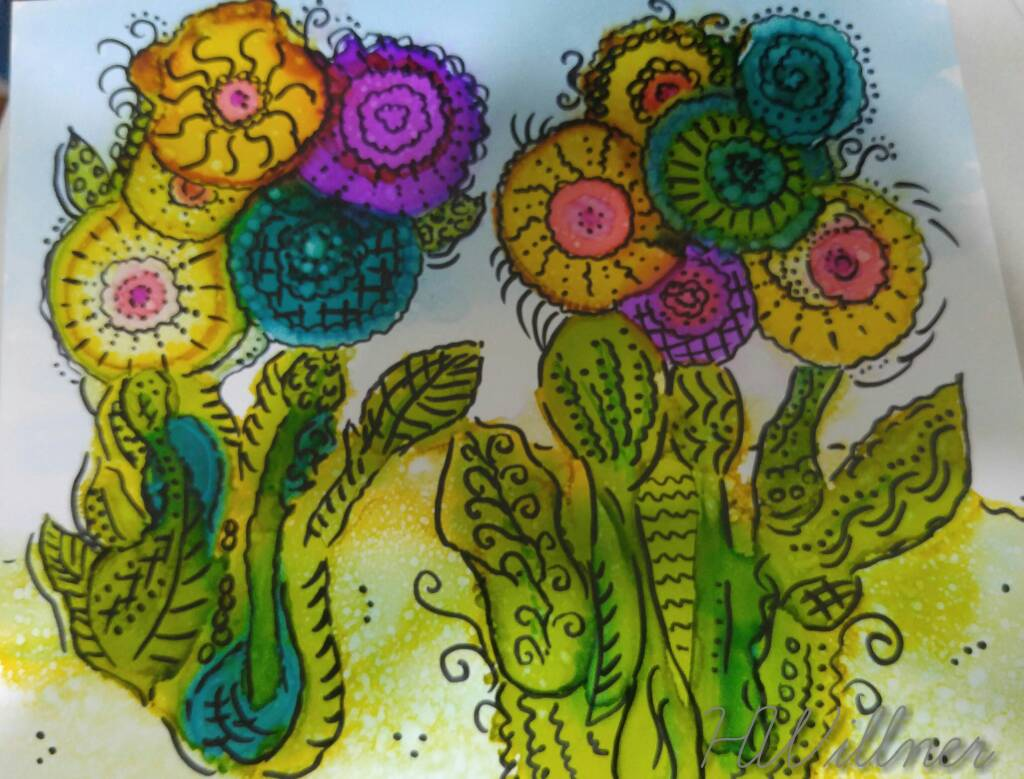 "Day1 ""Wellness Whimsy"". a flower a day until the cancer goes away."