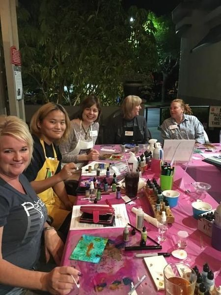 Inkingly YOurs alcohol ink art workshops in orange county