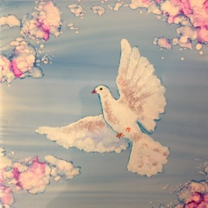 Andrea-V-Patton-Snow cap and Alcohol ink Dove